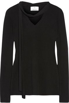 Shop Allude Woman Cashmere Sweater Black from stores. Black cashmere- Slips on- cashmere- Hand wash Black Cashmere Sweater, Black Sweaters, Cashmere Sweaters, Maria Black, J Brand Jeans, Classy Outfits, Fashion Outfits, Stylish, My Style