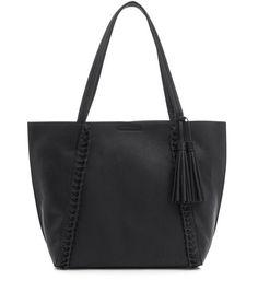 Black Plaited Seam Shopper Bag | New Look