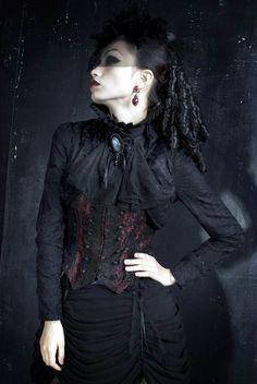 Punk Rave Fashion Gothic Lace Sleeve Jacket