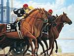 Easy Goer painting by Anthony Alonso