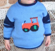 knitted tractor jumper for Jimmy