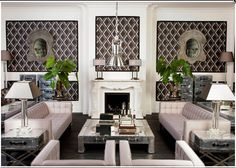 Bring classic continental style to your living room with a soft palette and feature prints for an interior design idea that is timelessly chic. Living Room Inspiration, Home Decor Inspiration, Home Living Room, Living Spaces, White Rooms, Dream Rooms, Beautiful Interiors, Luxury Living, Table Furniture