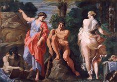 Hercule à la croisée des chemins - Annibal Carrache