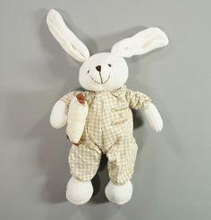 Doudou lapin tricot blanc vichy beige Doudou et Compagnie garçons ou filles in Bébé, puériculture, Peluches, doudous | eBay