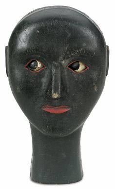 Carved and painted wood, Moveable eyes. Circa 1900  @Serene