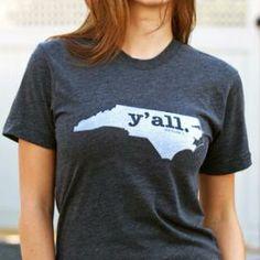 North Carolina Y'all Shirt