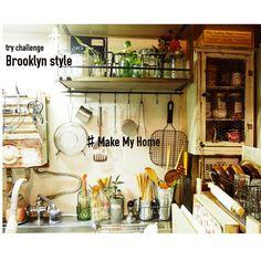 「キッチンペーパー在庫切れ」 「めざせN.Yブルックリン」 「団地」...etcが写っているreenaaさんのインテリア実例写真を紹介します。2014-09-21 03:06:48に撮影されました。