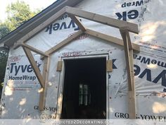 Build A Shed 826129125377726112 - how to build a portico – 15 – basic frame pieces in place Source by