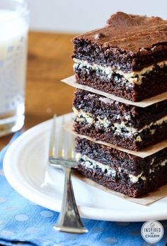 Cookies and Cream Filled Brownies