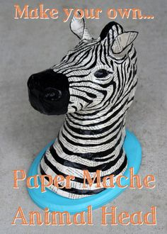 DIY Tutorial – Paper Mache Animal Heads « A Sharper Focustoo cute, may have to try this