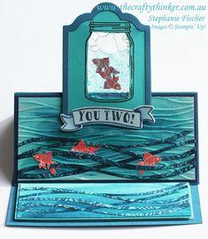 Stampin Up, #thecraftythinker, Jar of Love, Gel Card, Easel Card, Fun Fold