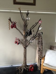 Driftwood tree from Westernport bay. A fun place to hang my shoes, scarves and jewellery.