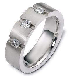 Rosendorff Men's Trilogy Diamond Ring