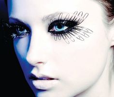 amazing makeup and false eyelashes