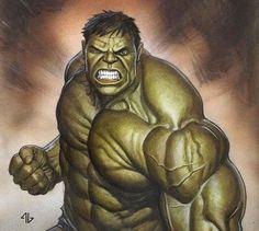 Hulk by Adi Granov Marvel Comics, Marvel E Dc, Arte Dc Comics, Hulk Marvel, Marvel Heroes, Avengers, Hulk Hulk, Batman Spiderman, Marvel Jokes