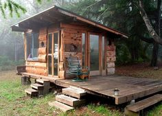 Off Grid Tiny House Deep in the Woods of Northern California for $1000...
