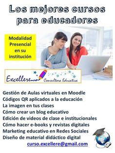 Para ver detalles de los cursos visiten este enlace:  http://excellereconsultoraeducativa.ning.com/events/event/listUpcoming o escriban a: curso.excellere@gmail.com