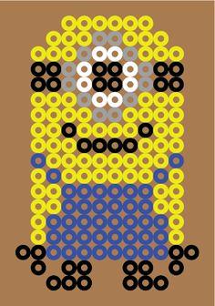 Patron / Pattern : Moi Moche et Méchant, Minion version 1 en Perle HAMA (Mini)