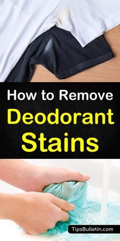 Cleaning hacks Discover how to remove deodorant stains from white and dark shirts, bras, or any othe Deep Cleaning Tips, House Cleaning Tips, Cleaning Solutions, Spring Cleaning, Cleaning Hacks, Cleaning Products, Tips And Tricks, Remove Deodorant Stains, Remove Stains