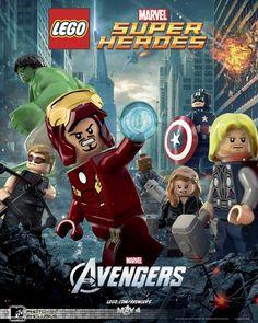 Pôster de lego e comerciais de Os Vingadores