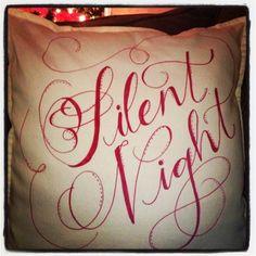 diy sharpie pillow silent night