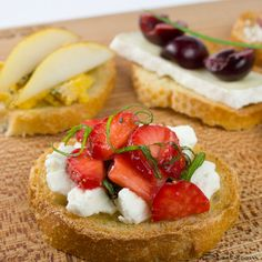Cheese and Fruit Canapes.