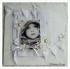 Elegant White on White Winter Scrapbook Layout