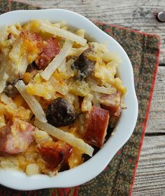 Easy Kielbasa casserole Recipe | Bake 40 ? 45 minutes or until lightly browned. Let stand 5 minutes ...