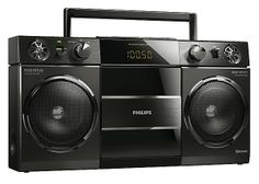 This retro style ghetto blaster has looks from the 80s but features super-modern technology http://www.clasohlson.com/uk/Philips-Original-Boombox-Portable-Bluetooth-Stereo/38-5657