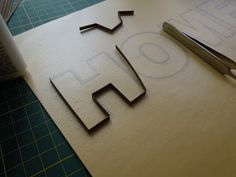outlining letters the quilling way