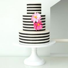 Horizontal Stripes on cakes in minutes!  This incredible stencil will change your life.