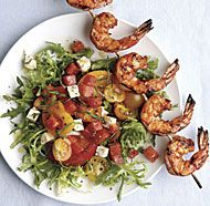 Grilled Shrimp Salad with Feta, Tomato, and Watermelon - Just The Salad (No Shrimp For Me!)