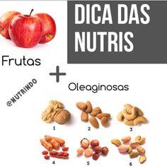 Dica de hoje simples e valiosa!! As frutas combinadas com 1 porção de oleaginosas são fáceis de carregar com vc e ótima opção de lanche entre as refeições. Mas pq fazer essa combinação?? As oleaginosas que são ótimas fontes de gorduras boas evitam a rápida absorção do açúcar das frutas.  #dicadodia #foco #emagrecimento #emagrecer #dieta #alimentacaosaudavel