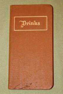 Vintage cocktail book