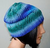 Ravelry: Danube DK Lacy Lattice Hat pattern by Laura Andersson & Crystal Palace Yarns