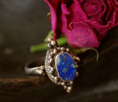 Ethnic Lapis Lazuli Ring by CosmicNorbu on Etsy