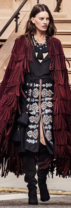 Burberry fringe cape