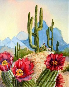 Cactus art print You are in the right place about Cactus raros Here we offer you the most beautiful pictures about the Cactu. art decoracion dibujo diy garden indoor painting plants drawing appartement bathroom home decor wood room decor Cactus Drawing, Cactus Painting, Watercolor Cactus, Cactus Art, Watercolor Art, Cactus Plants, Cacti, Cactus Flower, Dot Painting