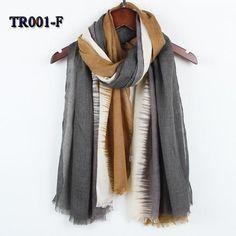 Stripe tassel scarf for women Autumn Winter Woman Long Cotton Scarf Scarves Foulard large shawl lady New fashion TR001