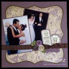 wedding invitation scrapbook page layout - Google Search