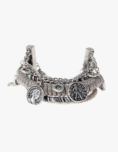 Braided coin bracelet