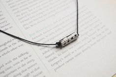 Music Cord Necklace for Men Man Guy Unisex by onetenzeroseven, £8.00