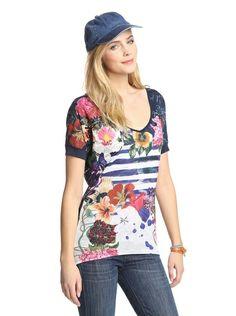Yes! Spring colors, please! Desigual Women's Printed Tee at MYHABIT