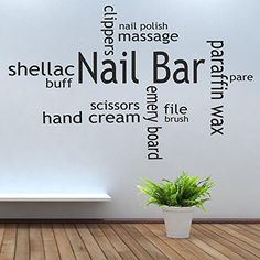 Nail Bar Collage Salon varnish polish decal Quote lettering sayings kitchen sport Bedroom home decor Collage http://www.amazon.com/dp/B00OCUGVHA/ref=cm_sw_r_pi_dp_0zP3vb1ZWNGMC