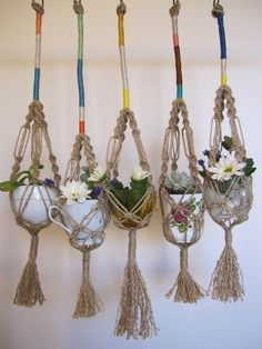 stampel macrame plant hangers                                                                                       Still have these And use them!!