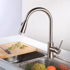 Bakala cozinha mão de níquel escovado torneira da cozinha de bronze torneira instantânea torneira de água quente LH-8105 alishoppbrasil