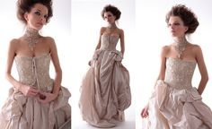 Muse collection Pompadour wedding gown and photo courtesy of Marina Mansanta