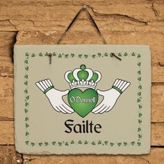 Personalized Failte Irish Slate Plaque - Gifts Happen Here