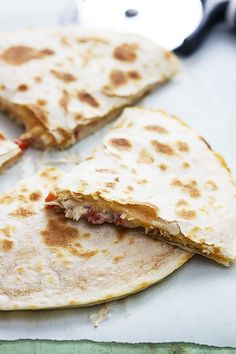 Slow Cooker Chicken Quesadillas - easy to whip up and sooo delicious!