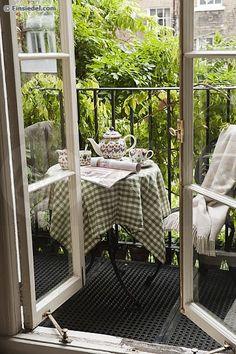 A quiet urban oasis - so inviting, especially with a pot of tea.